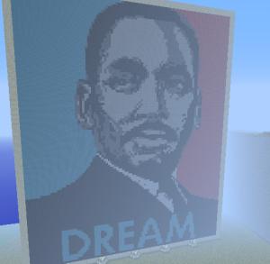 My dedication to MLK in Minecraft